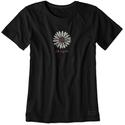 Womens Daisy Crusher Tee, Large - Black