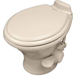 Dometic 310 Series Low Profile Gravity Discharge Toilet, Bone, 13.75