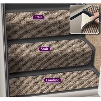 Decorian 6 Inch Step Hugger Landing Rug - Peppercorn