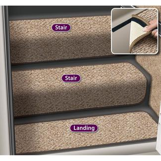 Decorian Step Huggers for Stairs, 13.5&quot&#x3b;, Butter Pecan