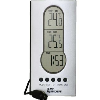 Wired Indoor&#x2f&#x3b;Outdoor Thermometer with Clock