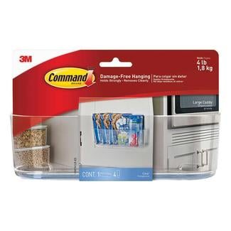 Command Clear Organization Caddy, Large, 4 lb. capacity