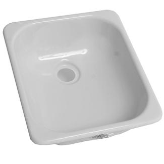 "13"" x 15"" Single Sink - White"