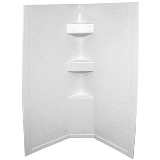 32&quot&#x3b; x 32&quot&#x3b; X 68&quot&#x3b; Picture Frame Neo Hex Surround with 5&quot&#x3b; Apron - White