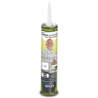 Self-Leveling Lap Sealant, 10.3 oz. tube - Tan
