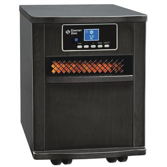 Extra-Large Infrared Cabinet Heater - Black Finish