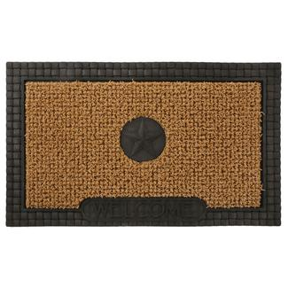 Patio Mat, AstroTurf, Star Design, 30'x18', Black/Tan