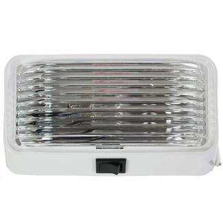 12-Volt Universal Porch&#x2f&#x3b;Utility Light with Switch &ndash&#x3b; White Base