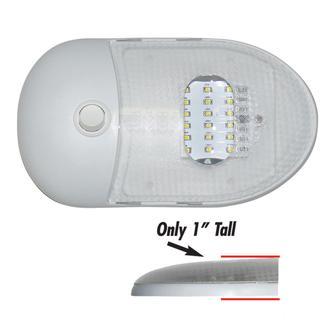 Slim Line LED Dome Lights, Single Dome 5500 Kelvin, Daylight White