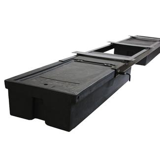 Underchassis Storage Container, Double Without Spare Tire Carrier