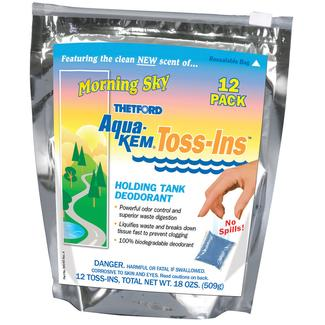 Aqua-Kem Toss-Ins, 12 Pack, Morning Sky