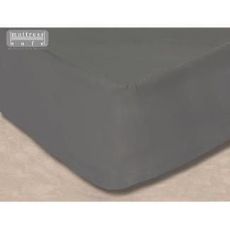 "All-In-One Mattress Protector and Fitted Sheet, 32"" x 74"" - Slate Gray"