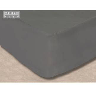 """All-In-One Mattress Protector and Fitted Sheet, 60"""" x 97"""" - Slate Gray"""