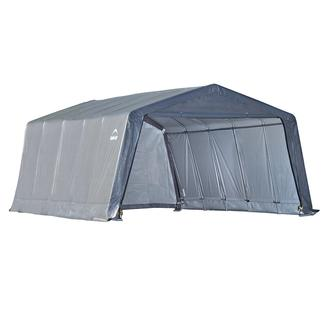 Peak Style Shelter 12 × 20 ×8 Gray Cover