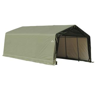 Peak Style Shelter 13 x 20 x 10 Green Cover