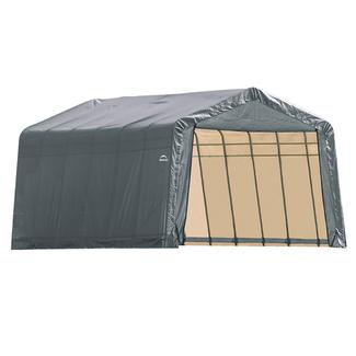 Peak Style Shelter 12 x 28 x 8 Gray Cover