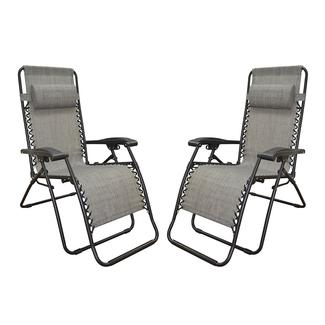 Zero Gravity Recliner, Gray - 2 Pack