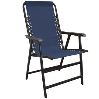 Suspension Folding Chair, Blue