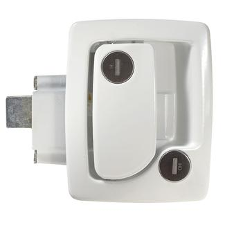Travel Trailer Entrance Door Locks with Deadbolt, White
