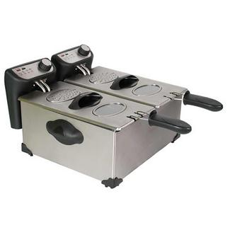 6.0L Stainless Steel Deep Fryer with Enamel Pot