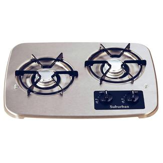 2 Burner Drop-In Cooktop, Stainless top