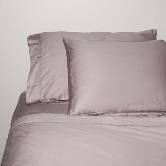 King 300 Thread Count Cotton Sheet Set, Gray