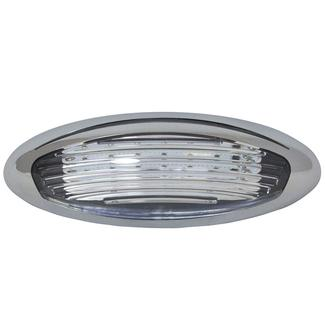 LED Exterior Porch Light, Chrome