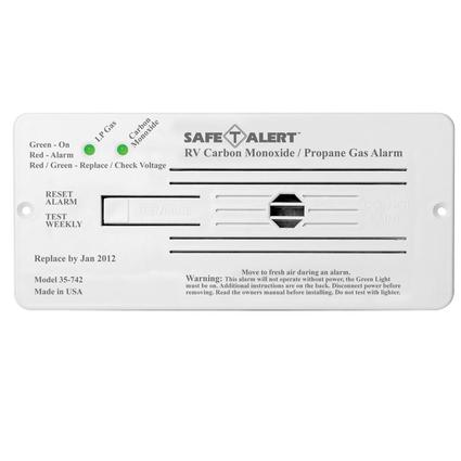 Safe-T-Alert 35 Series Flush Mount Dual LP & Carbon Monoxide Alarm – White