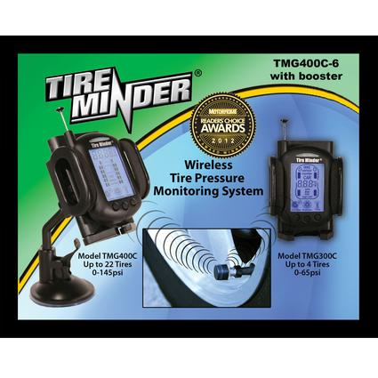 Award-Winning Tireminder Complete Tire Pressure/Temperature Monitor System