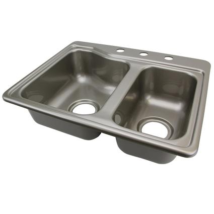 Double Kitchen Sink   Stainless Steel Color