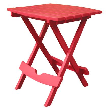 Quik-Fold Side Table - Cherry Red