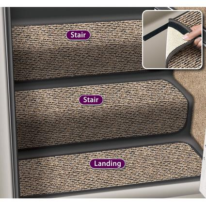 Decorian 8 Inch Step Hugger Landing Rug - Peppercorn