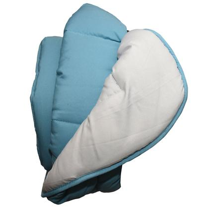 Reversible Comforter - Light Blue/Gray