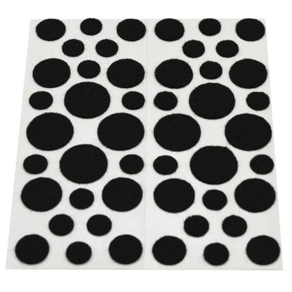 Assorted Felt Dots - 48 Pack