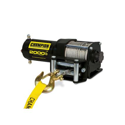 Champion 2,000 lb. ATV and UTV Power Winch