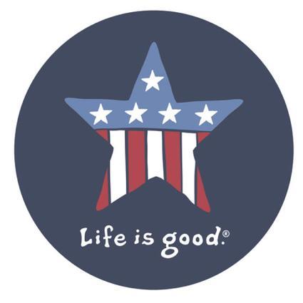 Life is Good Star Sticker