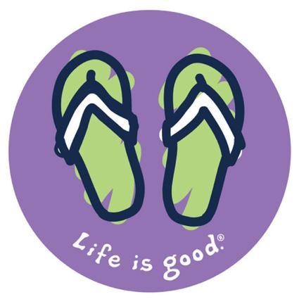 Life Is Good Flip Flops Sticker
