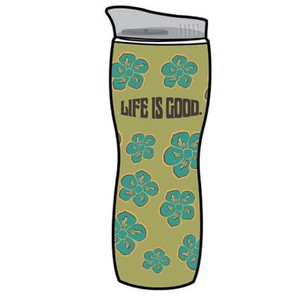 Life Is Good Hourglass Hot/Cold Tumbler, 16 oz. - Retro Green