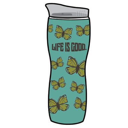Life Is Good Hourglass Hot/Cold Tumbler, 16 oz. - Aqua Blue