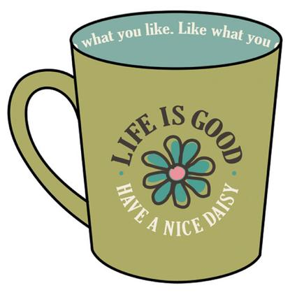 Life Is Good Everyday Mugs, 17.5 oz. - Retro Green Have a Nice Daisy