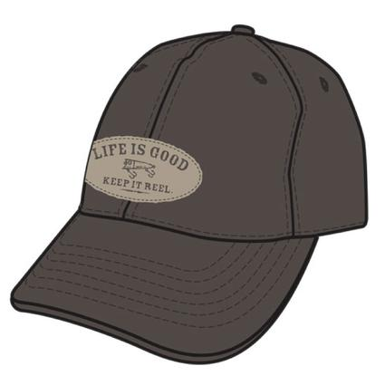 Life Is Good Men's Tattered Chill Caps - Brown Keep It Reel