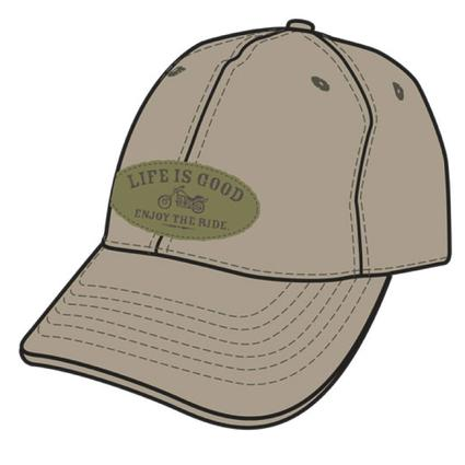 Life Is Good Men's Tattered Chill Caps - Khaki Enjoy the Ride
