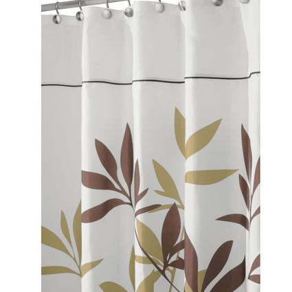 Stall-Size Shower Curtain - Brown