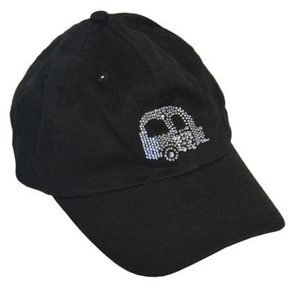 Ladies' Black Rhinestone Cap