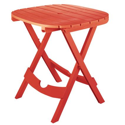 Quik-Fold Café Table - Cherry Red