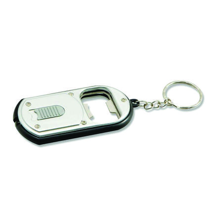 LED Keychain Flashlight with Bottle Opener