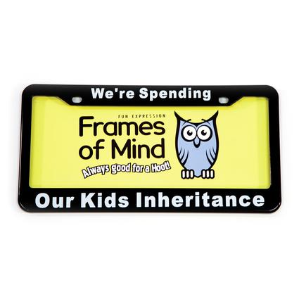 License Plate - Spending Our Kid's Inheritance