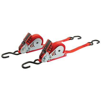 Retractable Ratchet Straps, Set of 2