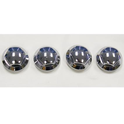 Chrome Finish Lug Nut Cover Inserts for Wheel Covers, Set of 4