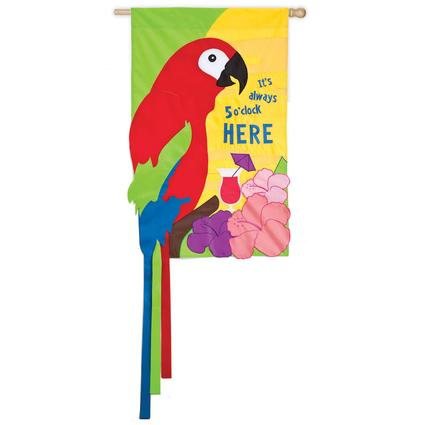 Always 5 O'Clock Here Decorative Garden Flag